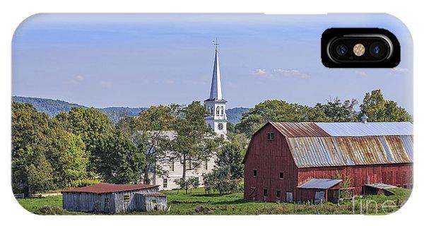 New England Barn iPhone Case - Peacham Vermont Idylic Vermont Scene by Edward Fielding