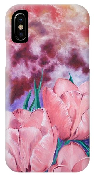 Peachypink Tulips IPhone Case