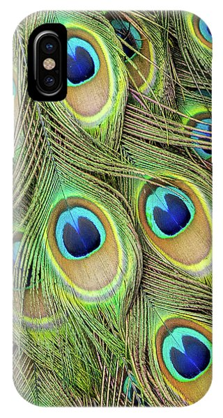 Living Peacock Abstract IPhone Case