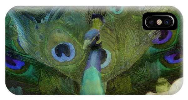Peafowl iPhone Case - Peacock And Magnolia I by Mindy Sommers