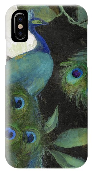 Peacock iPhone Case - Peacock And Magnolia II by Mindy Sommers