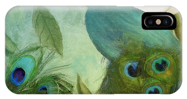 Peafowl iPhone Case - Peacock And Magnolia IIi by Mindy Sommers
