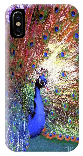 Peacocks iPhone Case - Peacock Beauty Colorful Art by Jane Small