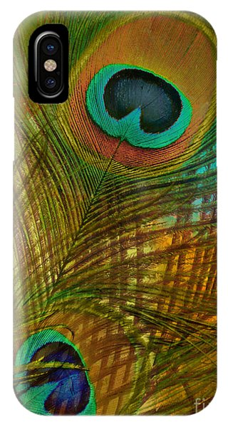 Peafowl iPhone Case - Peacock Candy Green And Gold by Mindy Sommers