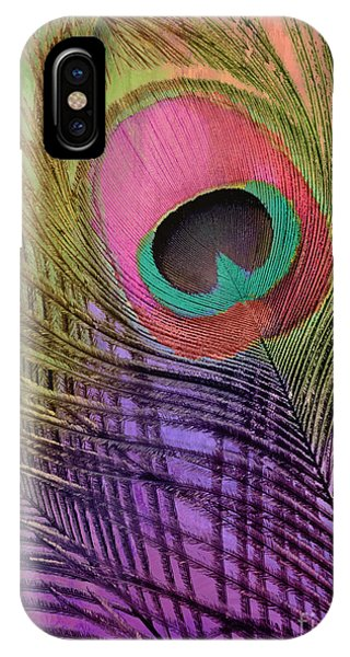 Peacocks iPhone Case - Peacock Candy Pink Green Coral by Mindy Sommers