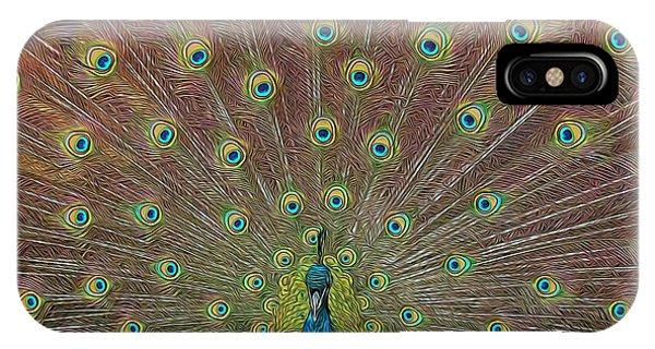 Peacock Fanfare IPhone Case