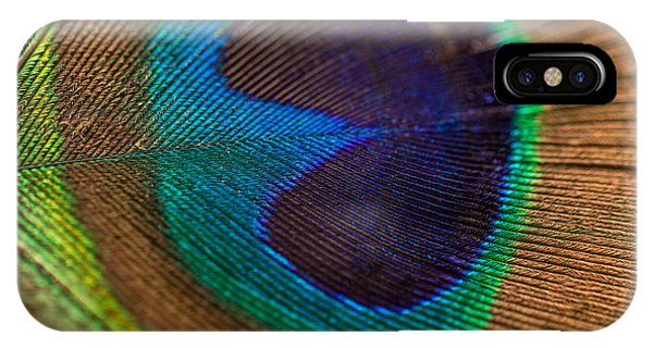 Peacock Feather Macro Detail IPhone Case