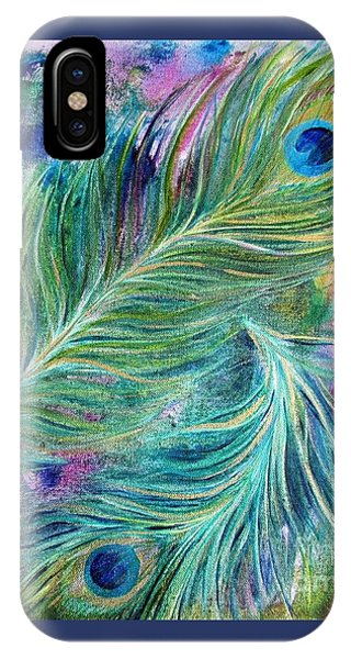 Peacock Feathers Bright IPhone Case