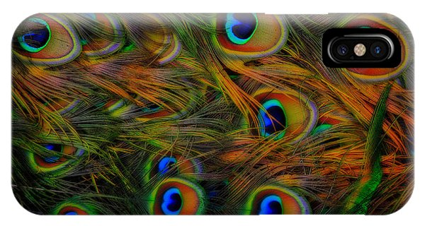 IPhone Case featuring the photograph Peacock Feathers by Harry Spitz