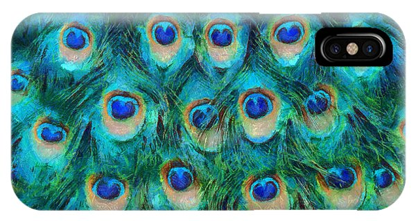 Repeat iPhone Case - Peacock Feathers by Nikki Marie Smith