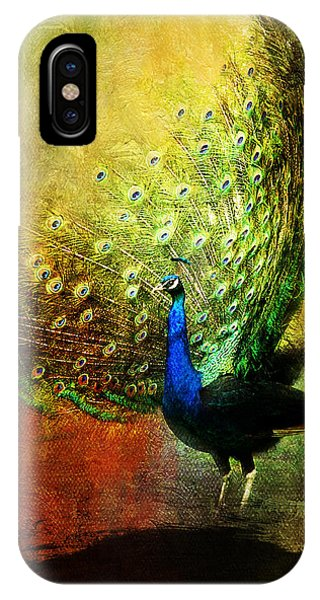 Peacock In Full Color IPhone Case