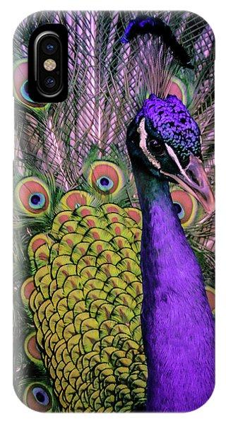Peacock In Purple 2 IPhone Case