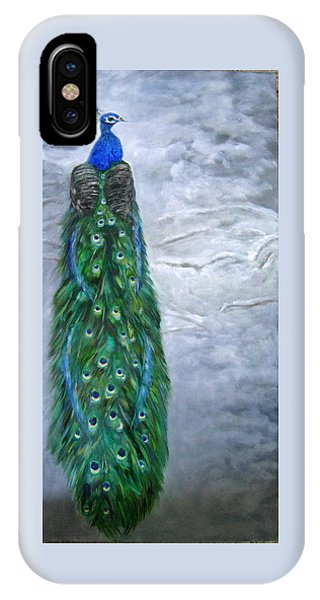 Peacock In Winter IPhone Case