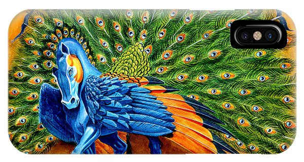 Peacocks iPhone Case - Peacock Pegasus by Melissa A Benson