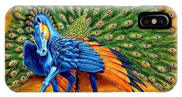 Mythology iPhone Case - Peacock Pegasus by Melissa A Benson