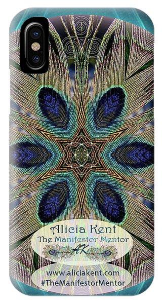 iPhone Case - Peacock Power Custom Logo by Alicia Kent