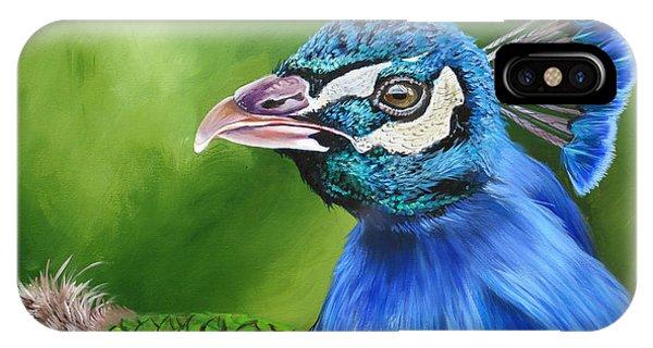 Peacock Profile IPhone Case