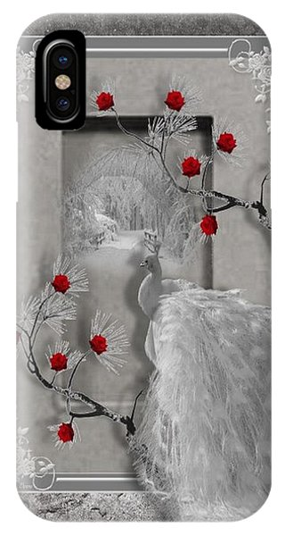 Peacock Purity IPhone Case