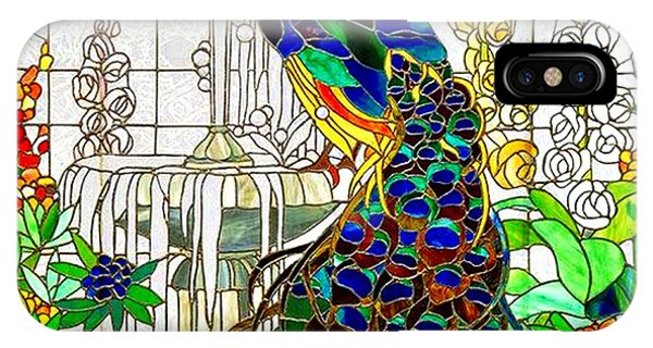 Peacock Stained Glass IPhone Case