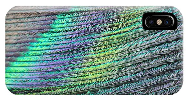 Peacock Stripes IPhone Case