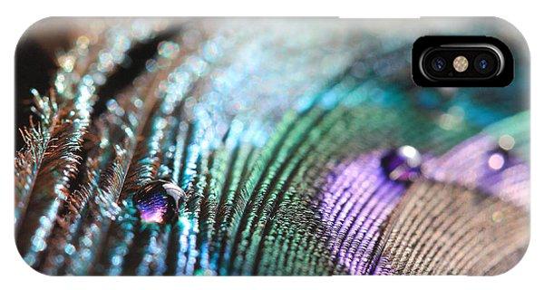 Peacock Swirls IPhone Case