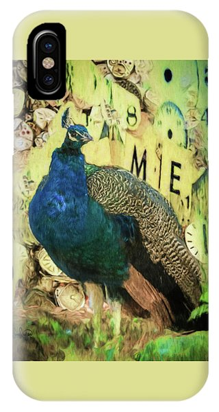 Peacock Time IPhone Case