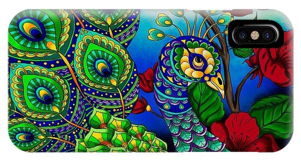 Peacock Zentangle Inspired Art IPhone Case