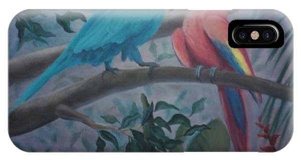 Peacocks In The Jungle IPhone Case