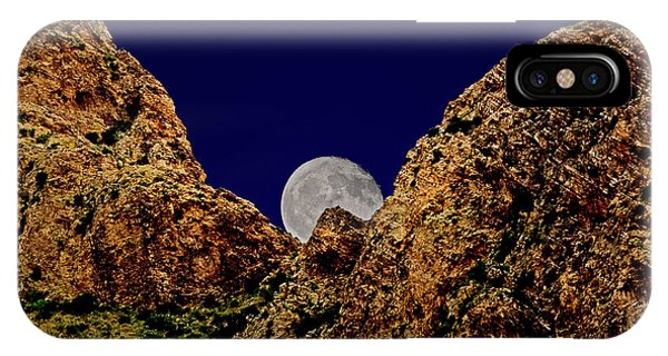 IPhone Case featuring the photograph Peak Full Moon H03 by Mark Myhaver