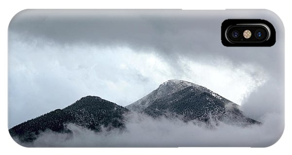 IPhone Case featuring the photograph Peaking Through The Clouds by Shane Bechler