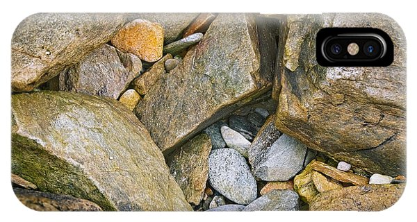Peaks Island Rock Abstract Photo Phone Case by Peter J Sucy