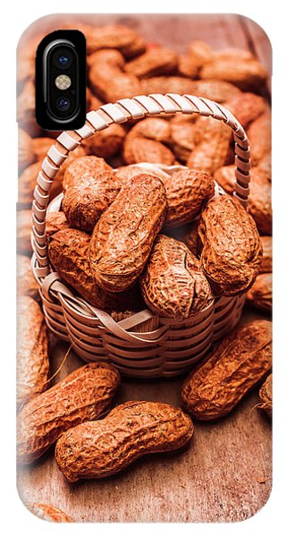 Nature Still Life iPhone Case - Peanuts In Tiny Basket In Close-up by Jorgo Photography - Wall Art Gallery