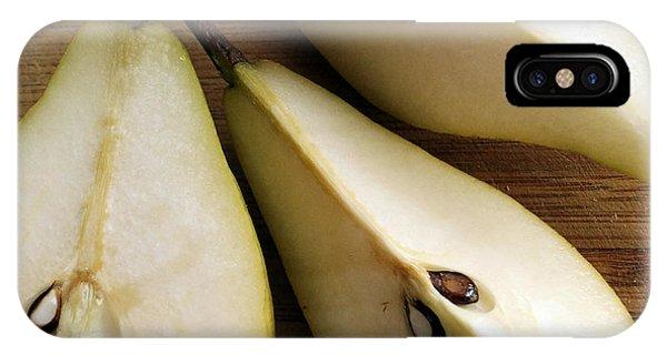 Pear Cut In Three IPhone Case