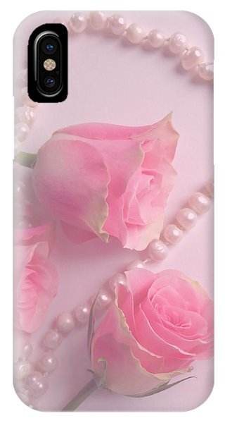 Pearls And Roses IPhone Case