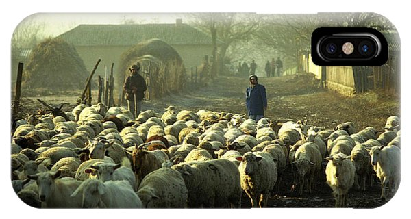Peasants And Herd On The Village Path IPhone Case
