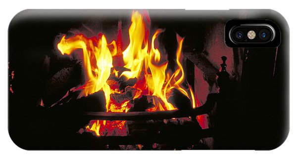 Peat Fire In Ireland Phone Case by Carl Purcell
