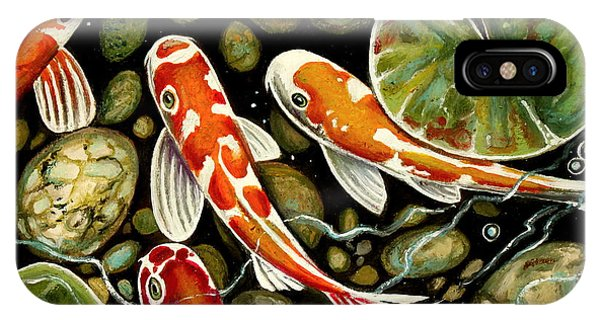 Pebbles And Koi IPhone Case