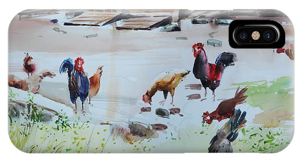 Barnyard iPhone Case - Pecking Order by P Anthony Visco