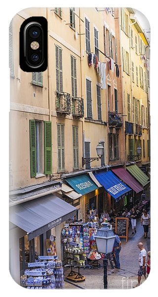 Window Shopping iPhone Case - Street In Old Nice by Elena Elisseeva