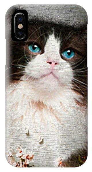 iPhone Case - Peek A Blue by Cynthia Leaphart