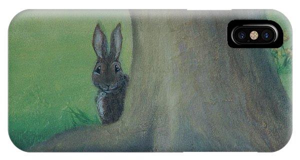 Peek A Boo Behind The Tree IPhone Case