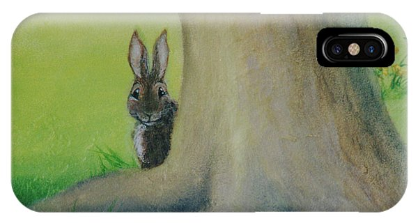 Peek-a-boo Bunny IPhone Case