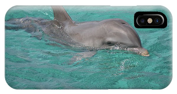 IPhone Case featuring the photograph Peeking Dolphin by Melissa Lane
