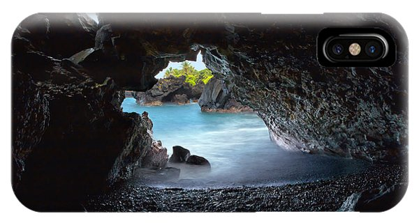 IPhone Case featuring the photograph Peeking Through The Lava Tube by Susan Rissi Tregoning