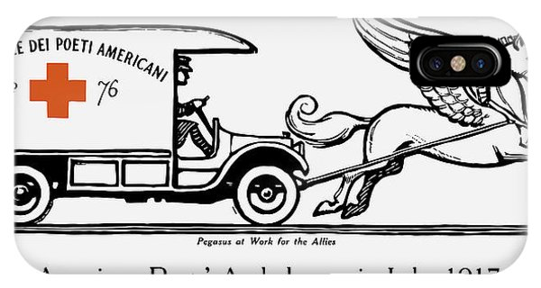 Wwi iPhone Case - Pegasus At Work For The Allies by War Is Hell Store