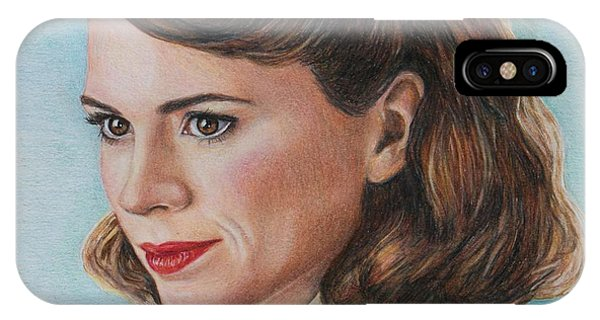 iPhone Case - Peggy Carter / Hayley Atwell by Christine Jepsen