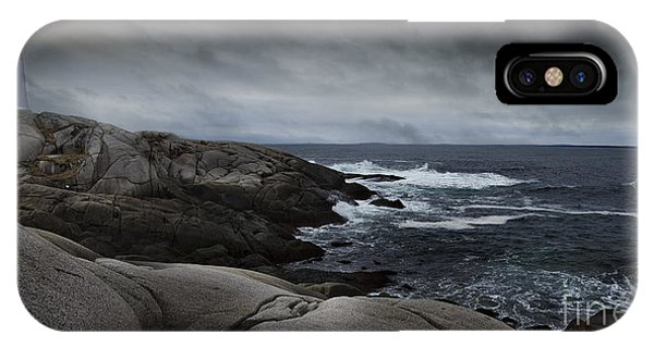 Peggys Cove Impending Storm IPhone Case