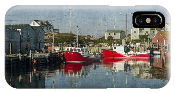 IPhone Case featuring the photograph Peggys Cove Marina by Dan Friend