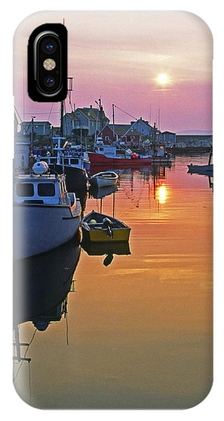 Peggy's Cove Sunset, Nova Scotia, Canada IPhone Case