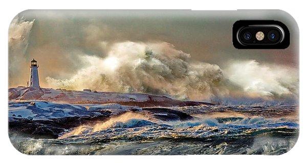 Peggy's Cove Winter Storm - Nova Scotia IPhone Case